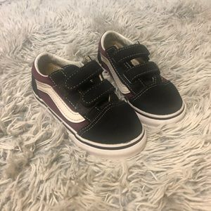 Vans Velcro Straps Toddler Black Shoes